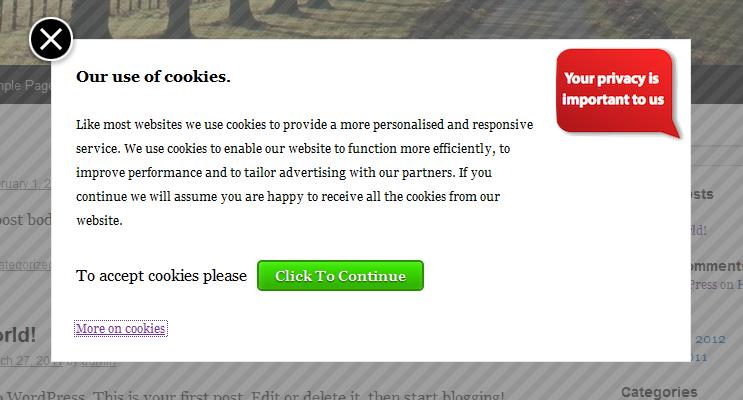 Mises en conformité RGPD - Cookies